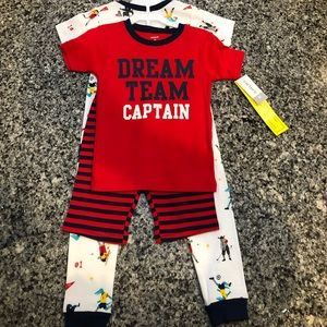 4 Piece Boys Carter's Pajama Set - 4T